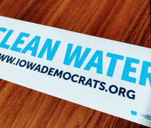 Iowa Democratic Party - Clean Water Bumper Sticker