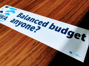 Iowa Democratic Party - Balanced Budget Bumper Sticker
