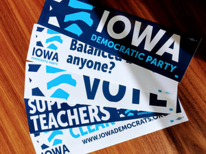 Iowa Democratic Party - Bumper Sticker Five Pack
