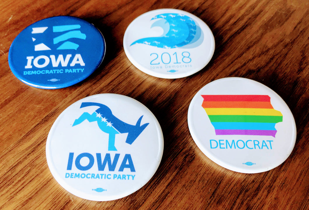 2018 Iowa Democrats Button Collection