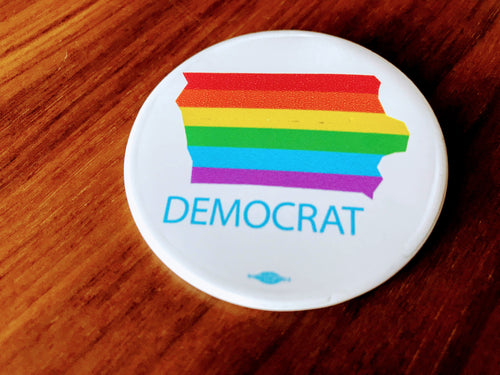 Iowa Democrats - Pride Button
