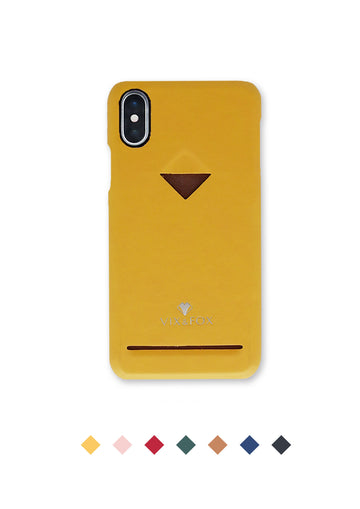 Card Slot Back Shell -  Mustard Yellow