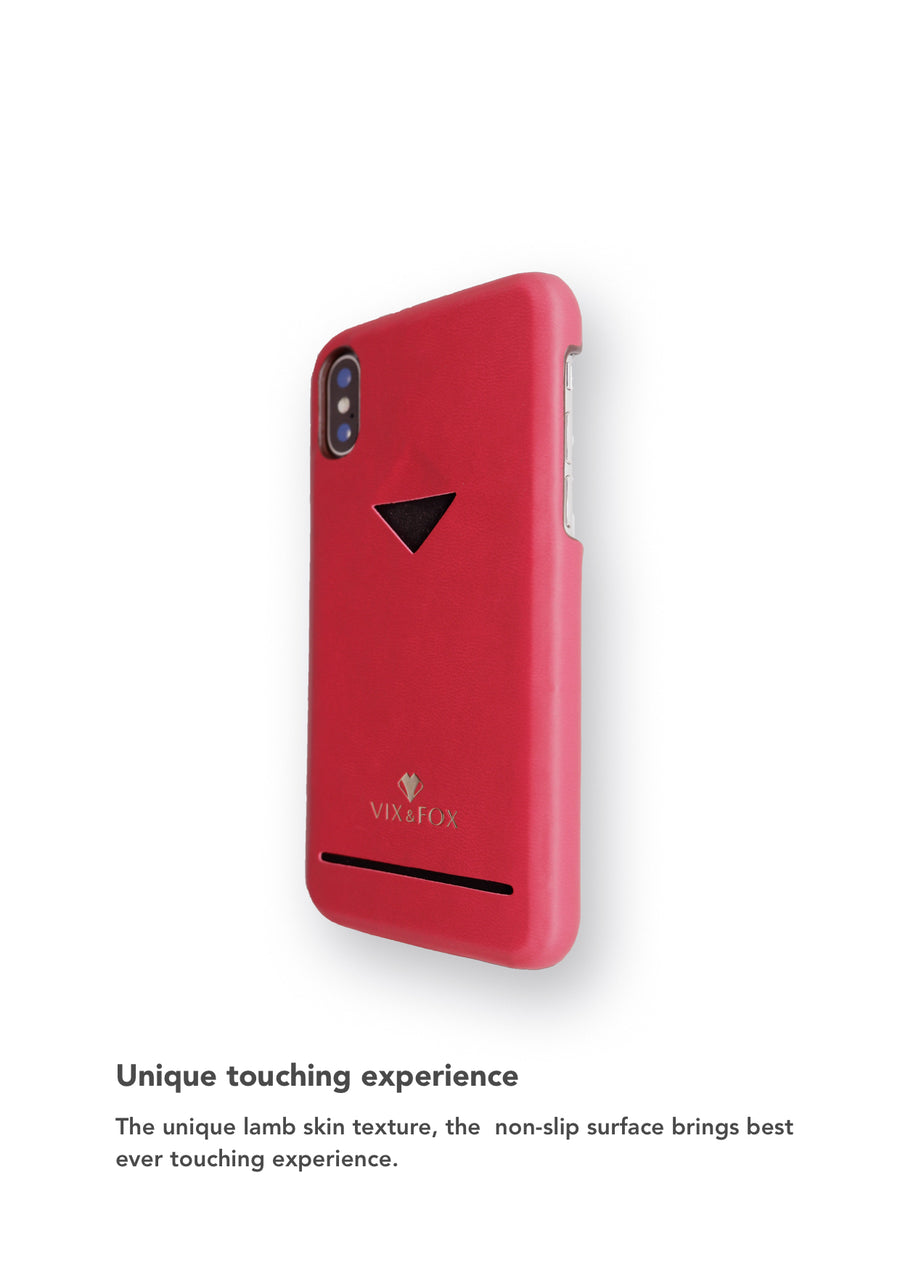 Card Slot Back Shell -  Ruby Red