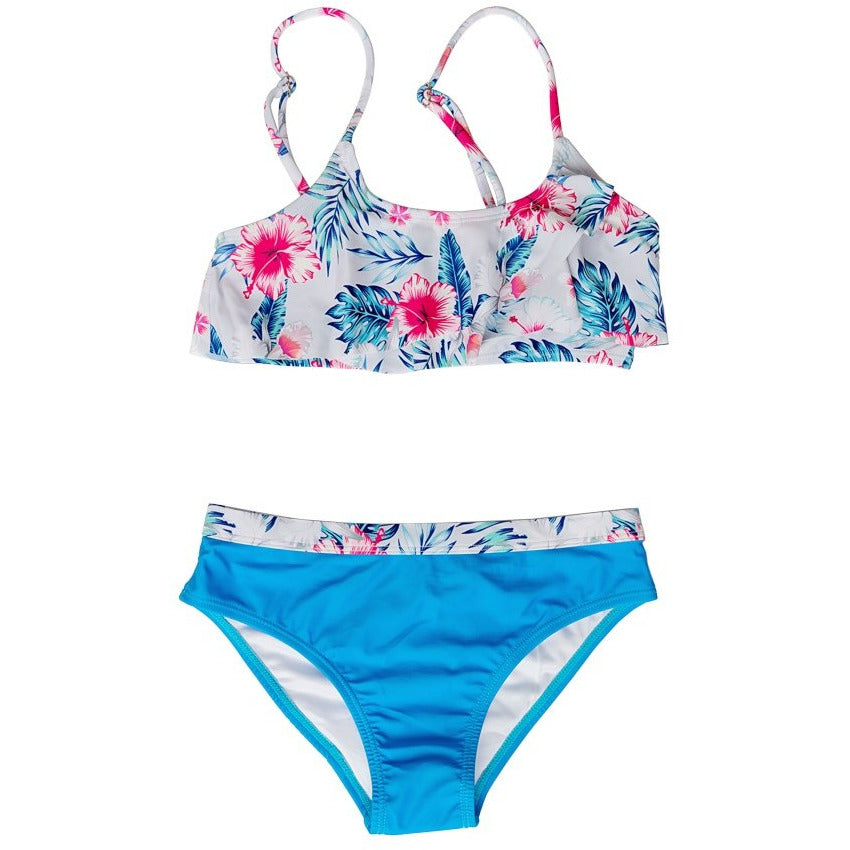 TROPICAL BREEZE FLUTTER BIKINI SET