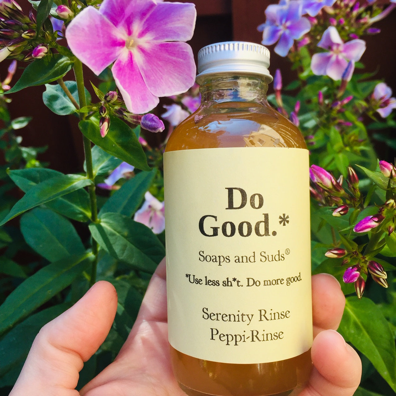 Serenity Hair Rinse - Do Good Soaps and Suds - Lavender-infused organic apple cider vinegar