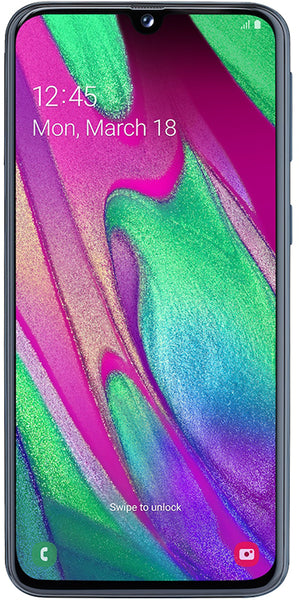 "SAMSUNG GALAXY A40 SM-A405F 4+64GB 5.9"" BLACK DS TIM"