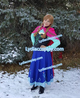 Princess Anna Costume for Adult Kids Plus Size