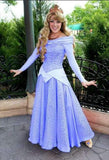 Blue Aurora Dress Sleeping Beauty Costume for Adult Women