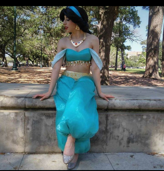 Princess Jasmine Costume for Women Tops, Pants and Headband