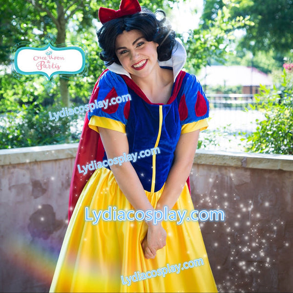 Princess Snow White Costume for Adults Plus Size Women Dress