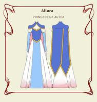 Handmade Voltron Princess Allura Costume Allura dress for Women