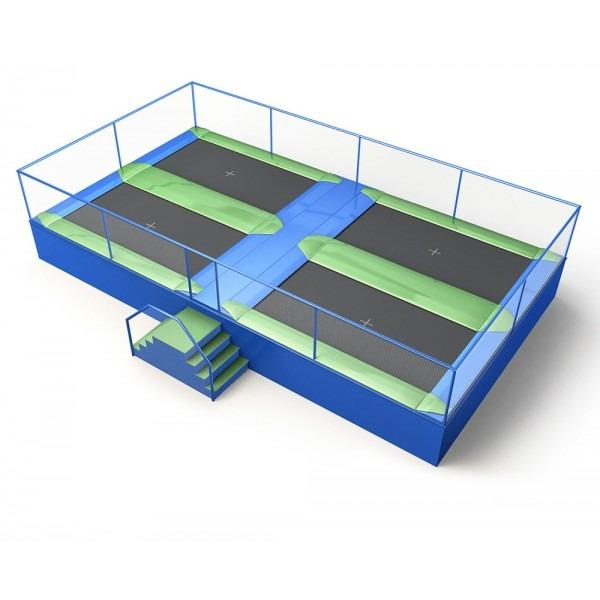 Configuration 8 • Two rows of two rectangular jump mats • (9.7m x 5.3m)