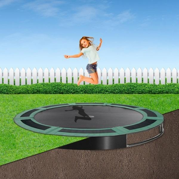 Capital In-ground Trampoline with green pads