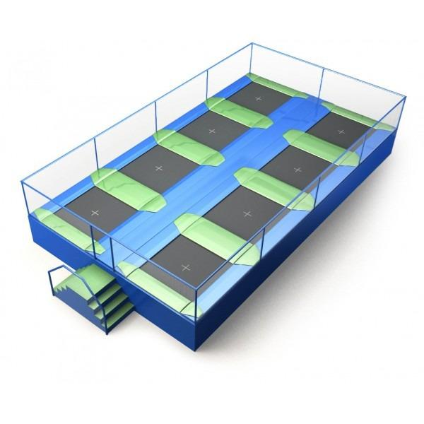 Configuration 5 • Two rows of four square jump mats • (10.6m x 5.9m)