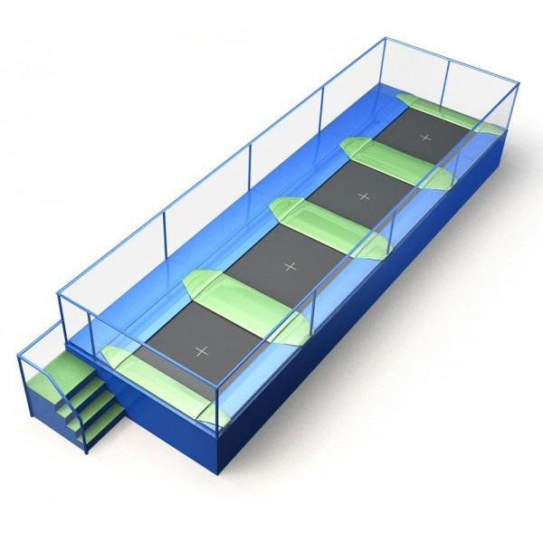 Configuration 2 • One row of four square jump mats • (10.6m x 3.3m)
