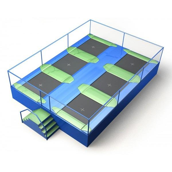 Configuration 4 • Two rows of three square jump mats • (8.0m x 5.9m)