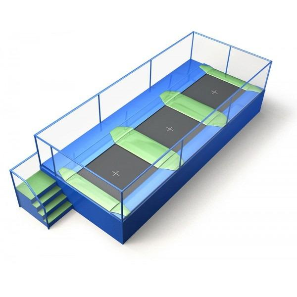 Configuration 1 • One row of three square jump mats • (8.0m x 3.3m)