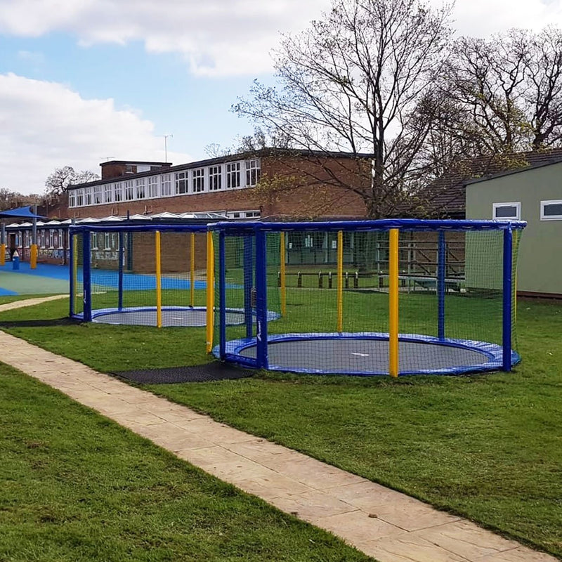 In-ground trampolines in Schools colours