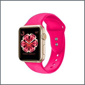 Apple Watch Strap - 2-Stud Silicone - Barbie Pink