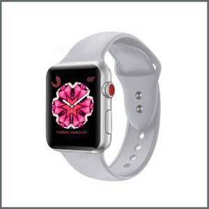 Apple Watch 2-Stud Silicone - Cloudy Grey