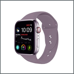 Apple Watch Strap - 2-Stud Silicone - Lavender Grey