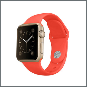 Apple Watch Strap - 2-Stud Silicone - Coral Red