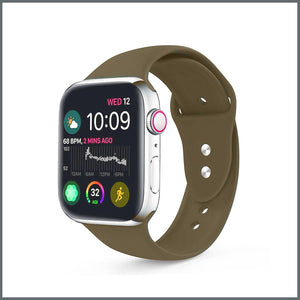 Apple Watch Strap - 2-Stud Silicone - Olive