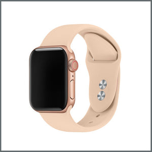 Apple Watch Strap - 2-Stud Silicone - Pink Sand