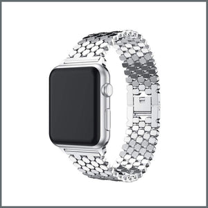 Apple Watch Strap - Beehive Link - Silver