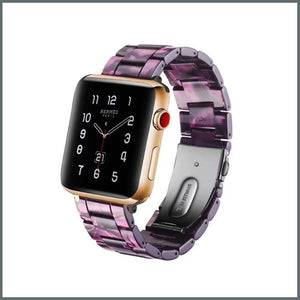 Apple Watch Strap - Resin Link - Purple Swirl
