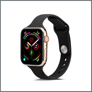 Apple Watch Strap - Dainty Silicone - Black