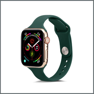 Apple Watch Strap - Dainty Silicone - Emerald Green