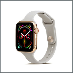 Apple Watch Strap - Dainty Silicone - Grey