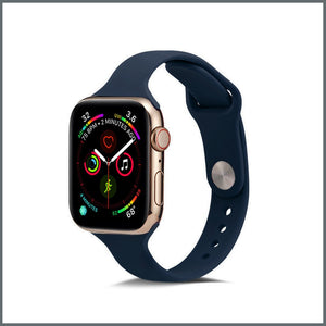 Apple Watch Strap - Dainty Silicone - Navy Blue