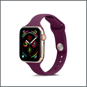 Apple Watch Strap - Dainty Silicone - Purple