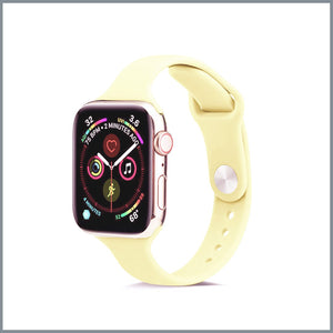 Apple Watch Strap - Dainty Silicone - Sorbet Yellow