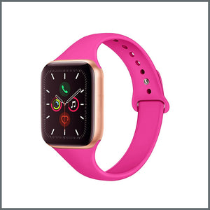 Apple Watch Strap - Dainty Silicone - Barbie Pink