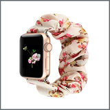 Apple Watch Strap - Scrunchie - Creme Floral