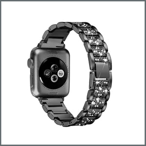 Apple Watch Strap - Glistening Bracelet - Black