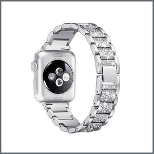 Apple Watch Strap - Glistening Bracelet - Silver