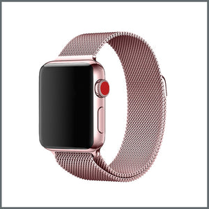 Apple Watch Mesh Loop - Metallic Rose