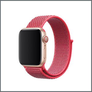 Apple Watch Strap - Sport Nylon Loop - Hibiscus Pink