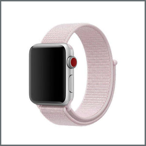 Apple Watch Strap - Sport Nylon Loop - Pearl Pink