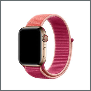 Apple Watch Strap - Sport Nylon Loop - Pomergranate