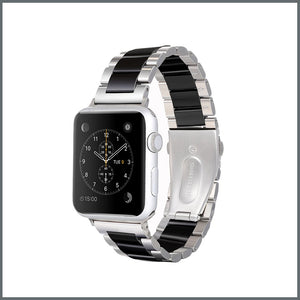 Apple Watch Strap - Power Link - Silver/Black