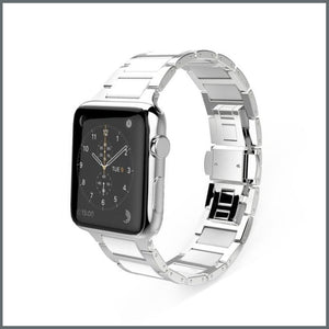 Apple Watch Strap - Power Link - Silver/White