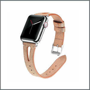 Apple Watch Strap - Stylish Leather - Rose Gold