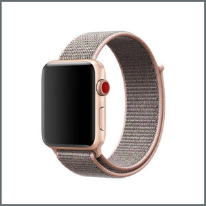 Apple Watch Sport Nylon Loop - Pink Sand