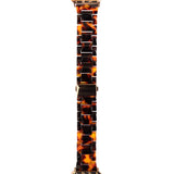 Apple Watch Strap - Resin Link - Tortoise Shell