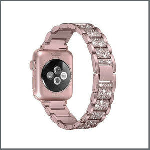 Apple Watch Strap - Glistening Bracelet - Metallic Rose